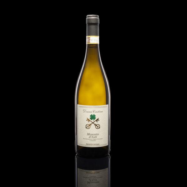 Moscato d'Asti D.O.C.G. Hell-goldige Robe, Golden-Apfel Bouquet. Süsser Perlwein. Unverzichtbar in Italien während der Festtage Hören Sie sich die Beschreibung an
